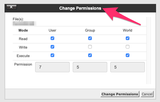 Permissions Try The cPanel File Manager Web Site Web Site Security