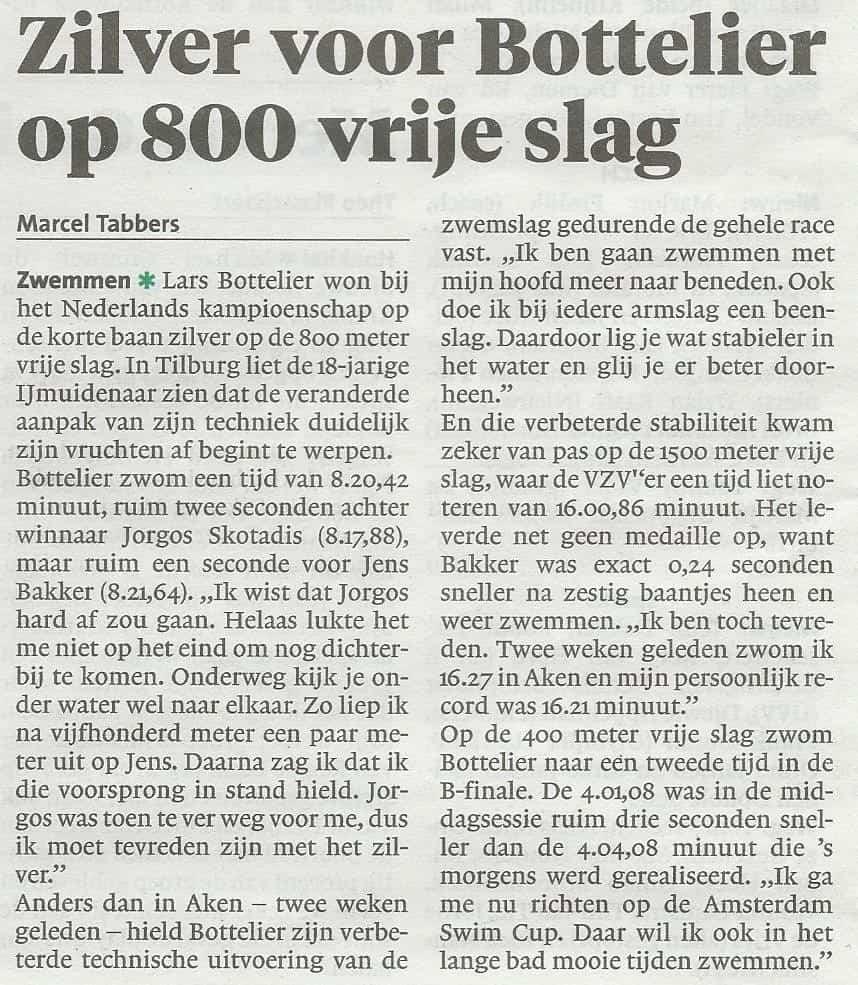 ONK Tilburg kb ijmuider courant Lars Bottelier