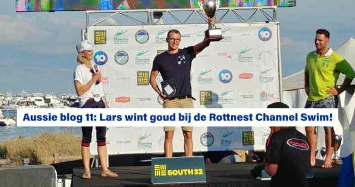 Lars Bottelier wint goud bij de Rottnest Channel Swim Rotto2020