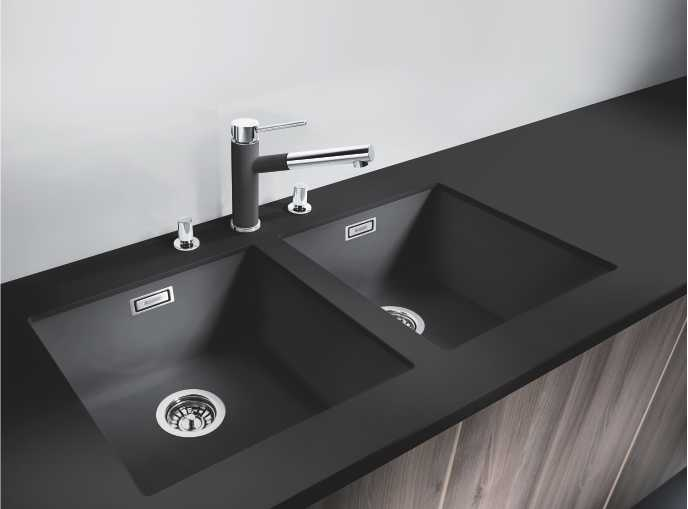 kitchen undermount sinks modern cabinets blanco | silgranit stainless steel