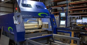 MultiCam CNC Quantus Laser Cutting Table