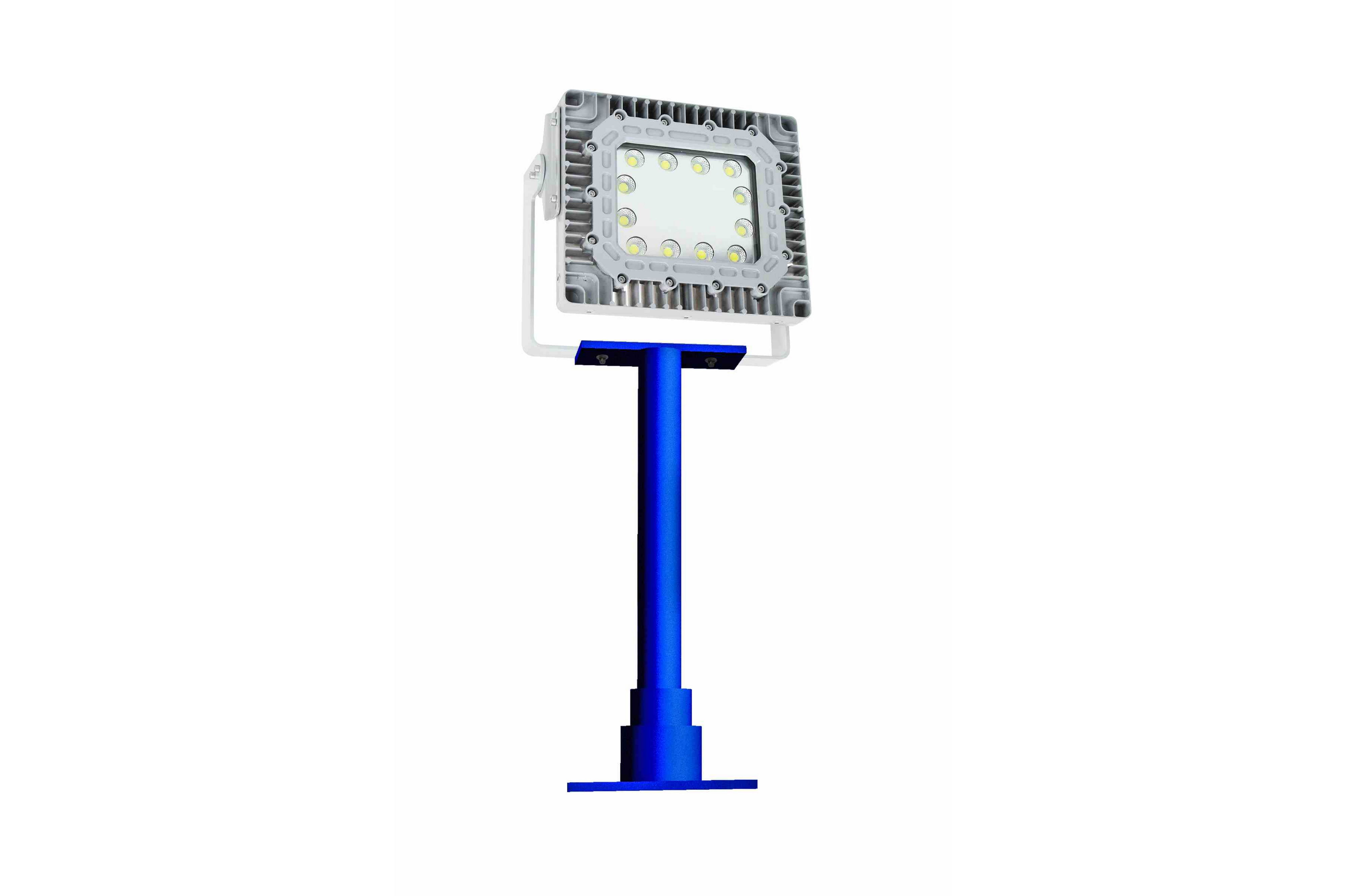 150w Explosion Proof Led Pole Light W Glare Shield