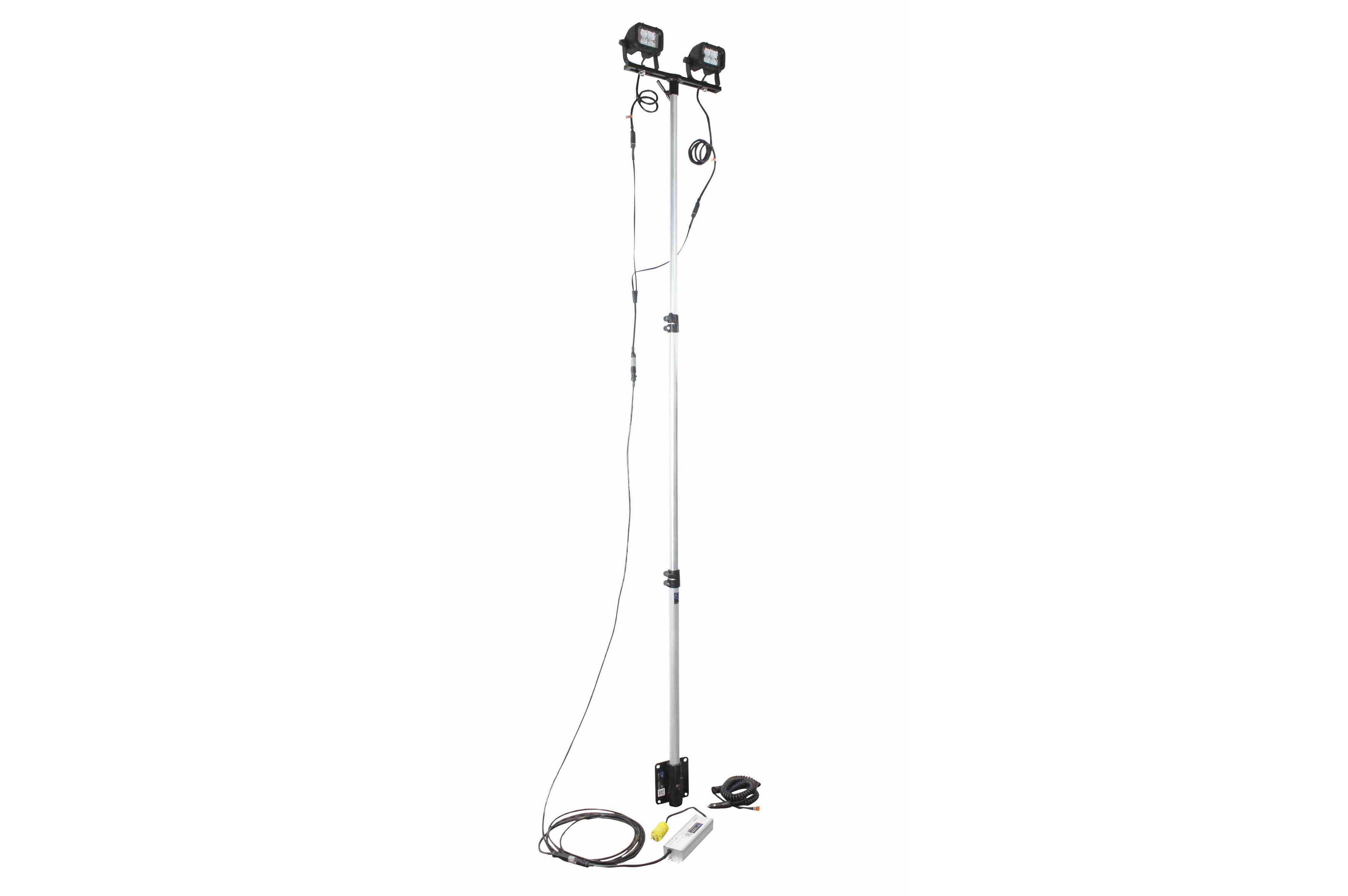 24 Watt Portable Led Telescoping Light Pole