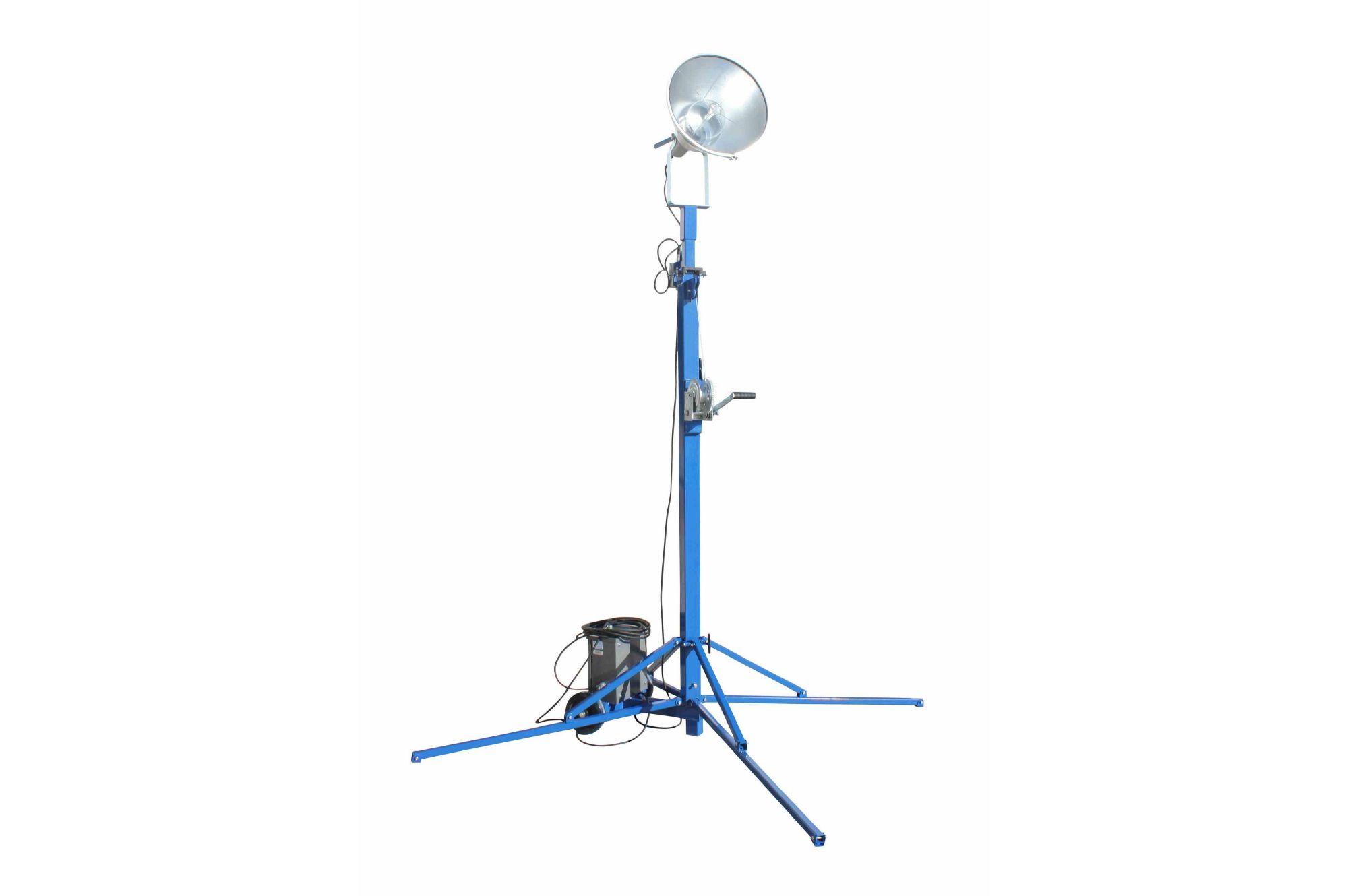 hight resolution of portable light tower 1000 watt metal halide covers 23 000 sf extends to 14 feet