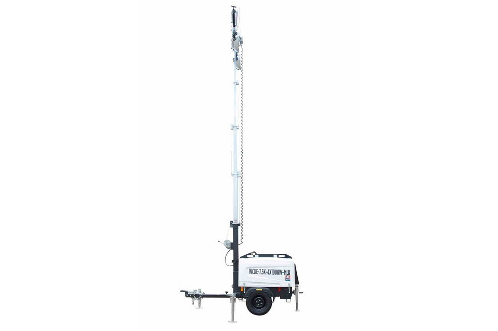 25' Mobile Light Tower with Diesel Engine Generator