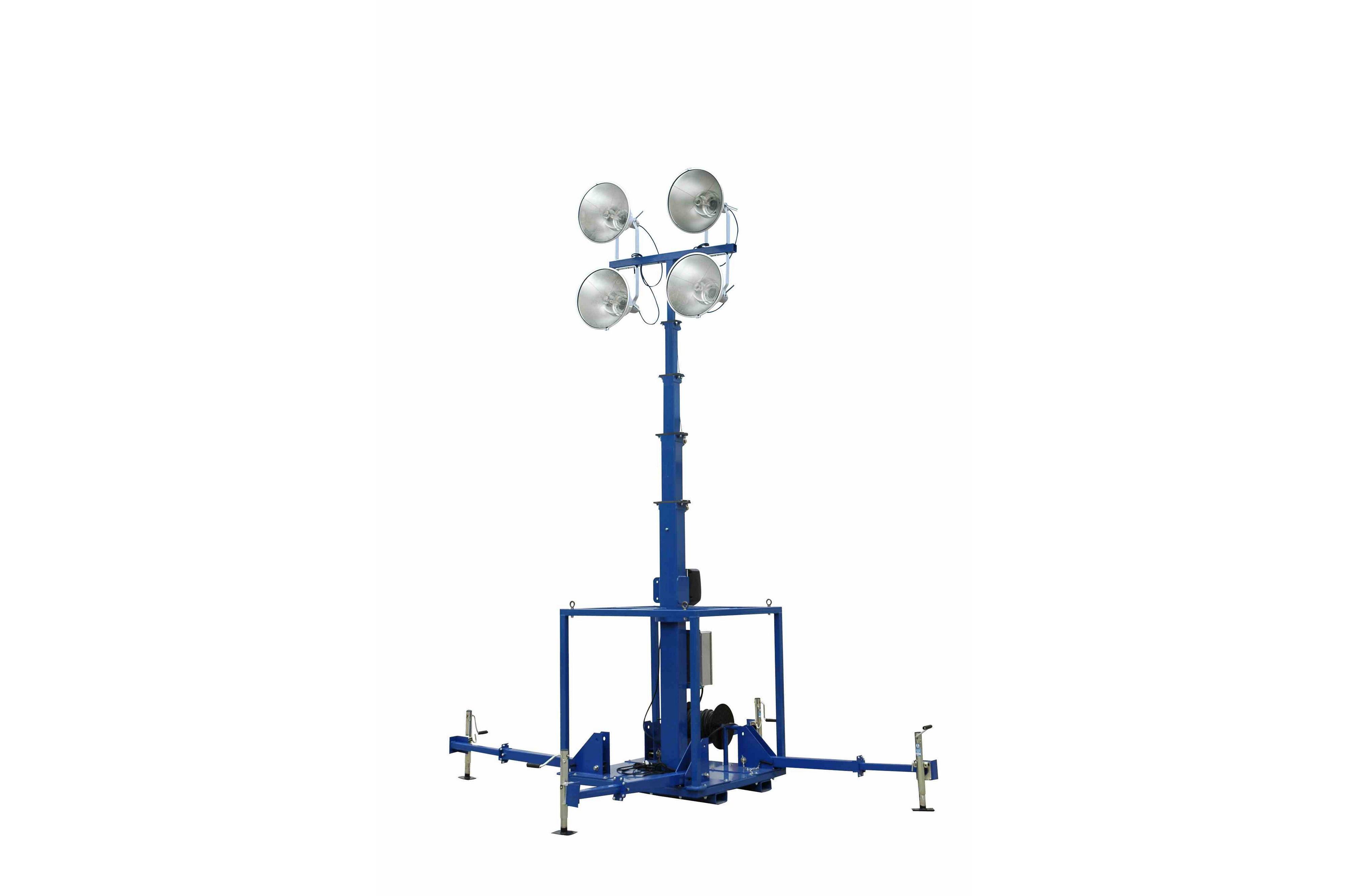 Watt High Intensity Metal Halide Skid Mount Light Mast Released By Larson Electronics