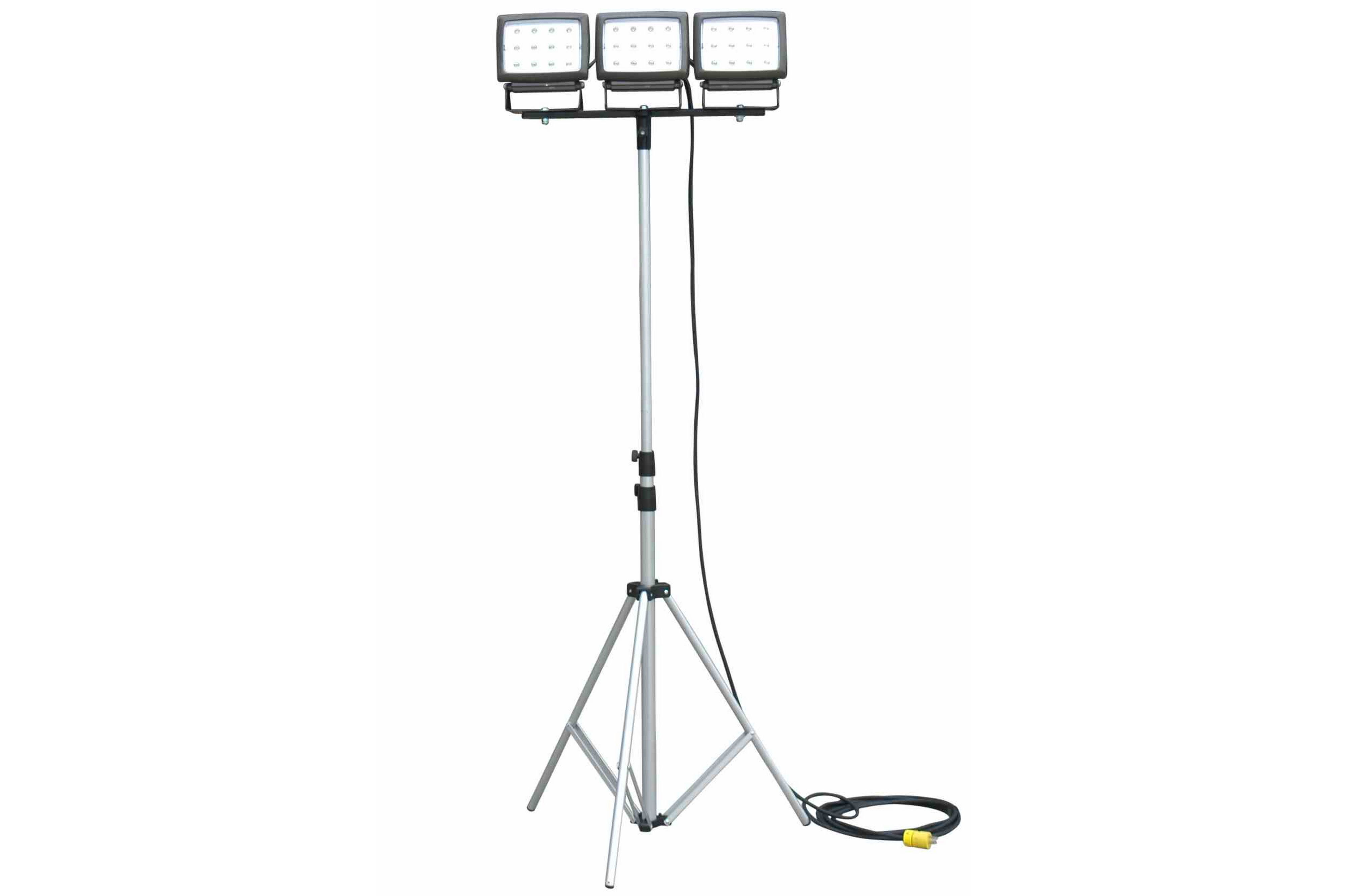 3 40 Watt Led Flood Lights On Telescoping Tripod