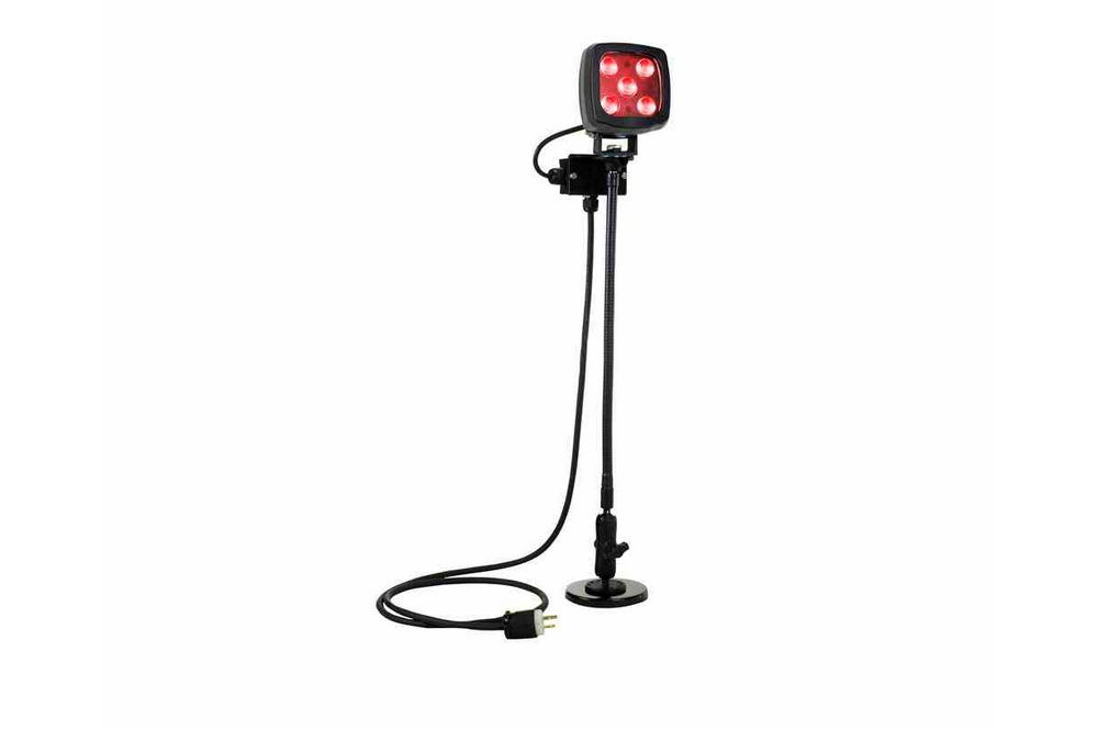 25W LED Red Work Light w/ Goose Neck Double Ball Joint