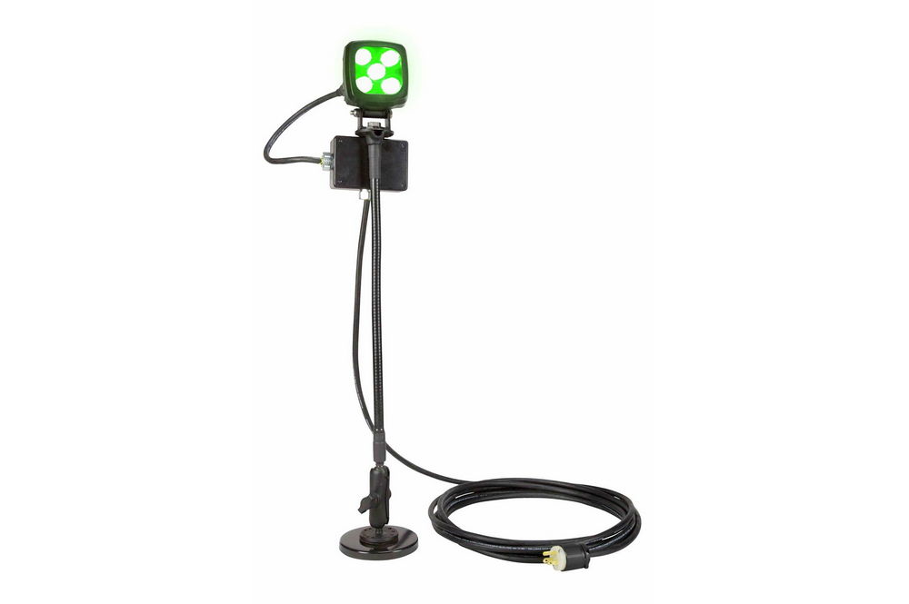 25W LED Green Work Light w/ Goose Neck Double Ball Joint