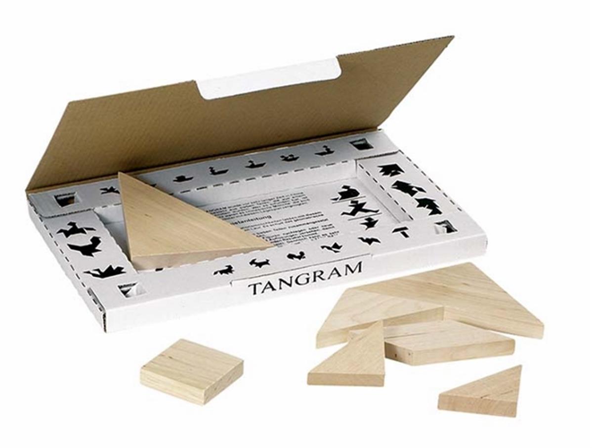 boite casse tete puzzle en bois tangram