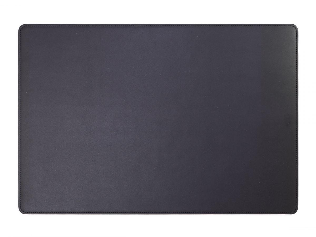 sous main de bureau en cuir noir 50x34 cm