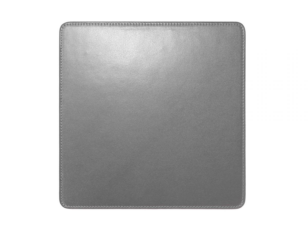 tapis souris en cuir gris fer