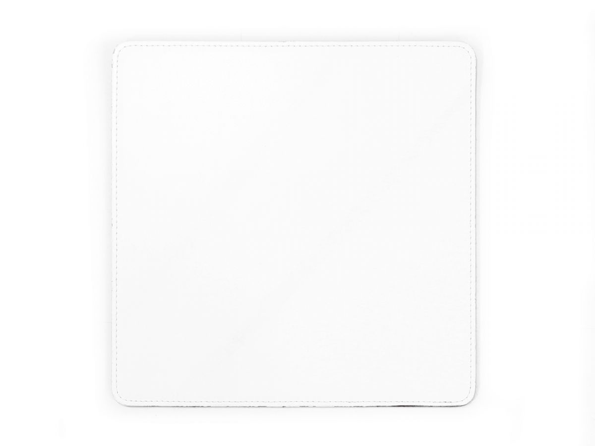 tapis souris en cuir blanc