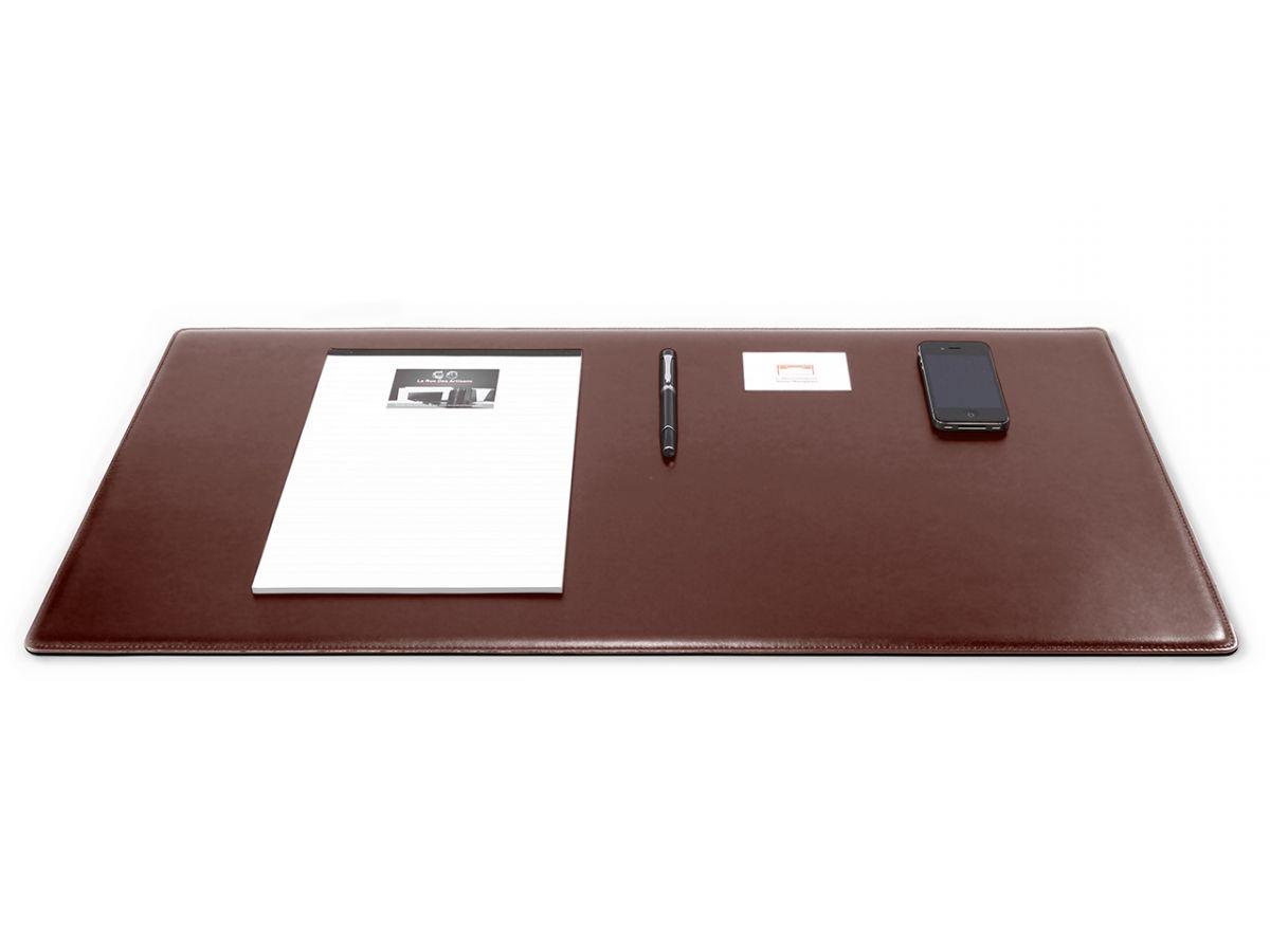 grand sous main cossu de bureau en cuir marron 80x40 cm grand sous main cossu de bureau en cuir marron 80x40 cm