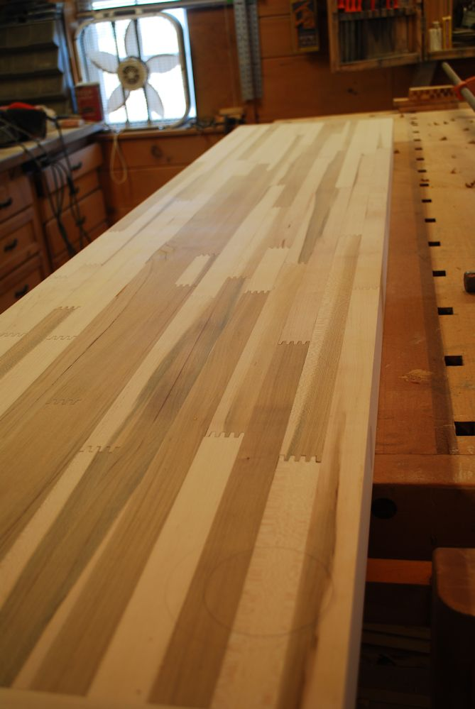 Custom Finger Joint Maple Butcher Block Counter Top