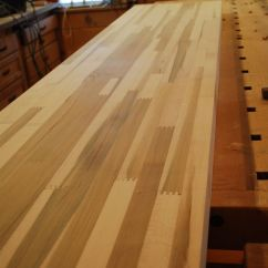 Refinishing Kitchen Countertops Free Standing Sink Cabinet Custom Finger Joint Maple Butcher Block Counter Top ...