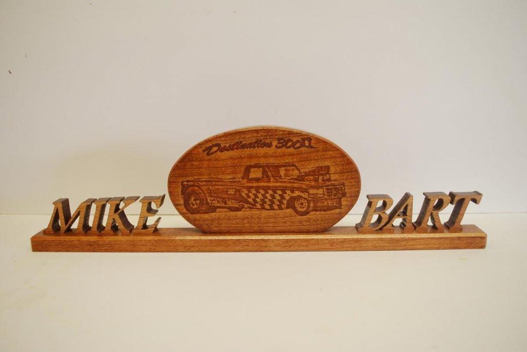 Custom Wood Name Plaques and signature desk name plaques
