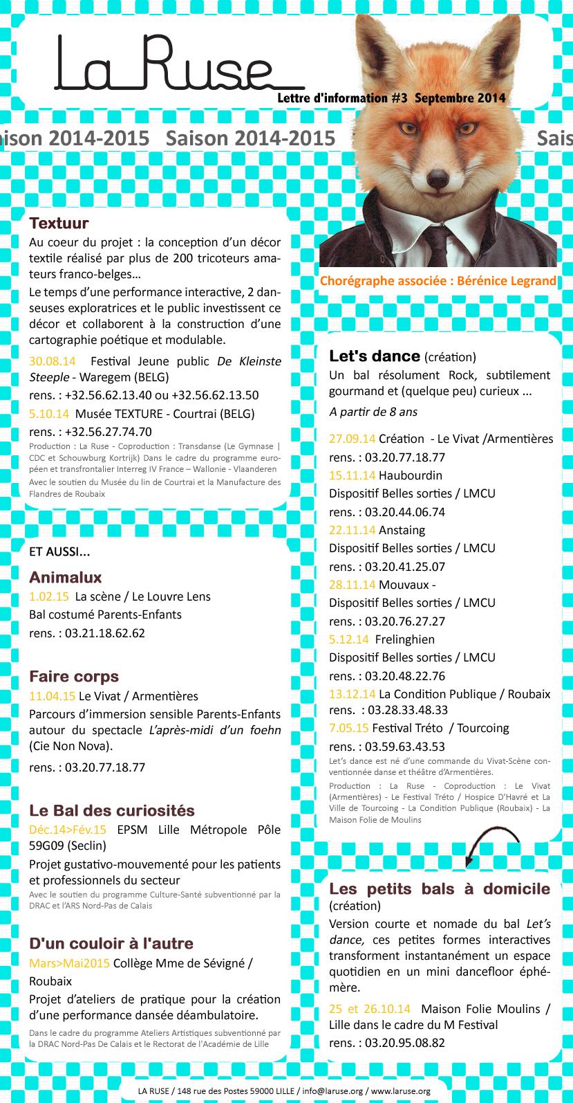La Ruse - Lettre d'info#3