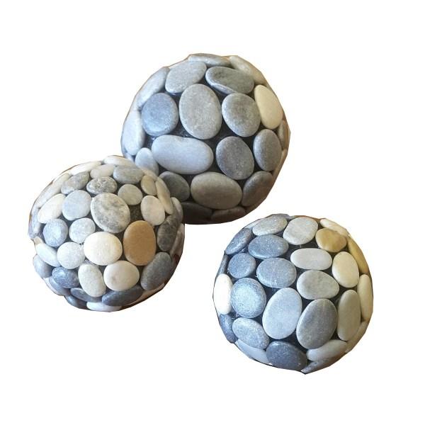 dekoratif çakıl taşı top
