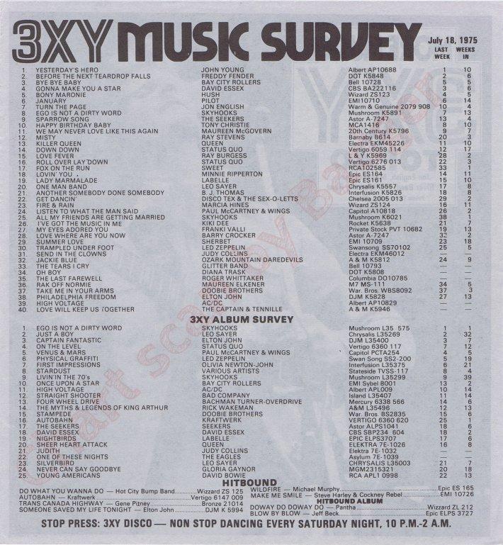 3XY 1420 Melbourne Survey 07/18/75