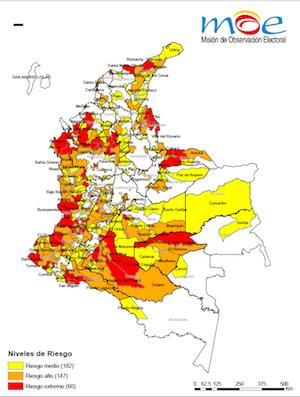Panorama de riesgos en las elecciones legislativas de Colombia 2014