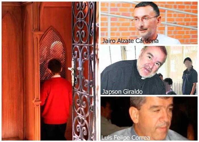 Primeros 18 sacerdotes colombianos acusados de pedofilia