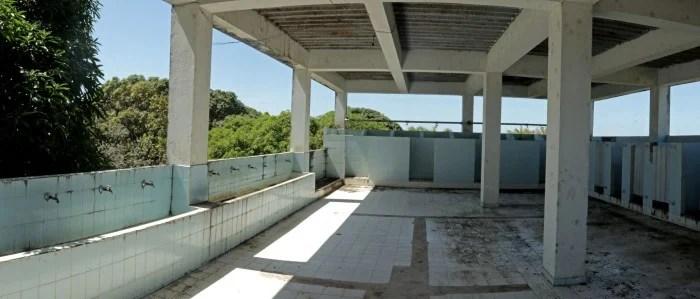 Baños de la sede Pinardy, del Centro Educativo el Tuparro. Enero del 2016.