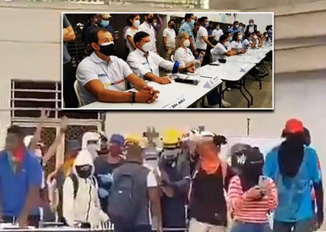 A gritos los jóvenes de bloqueos en Cali se le levantaron a dos ministros,  la gobernadora y el alcalde - Las2orillas