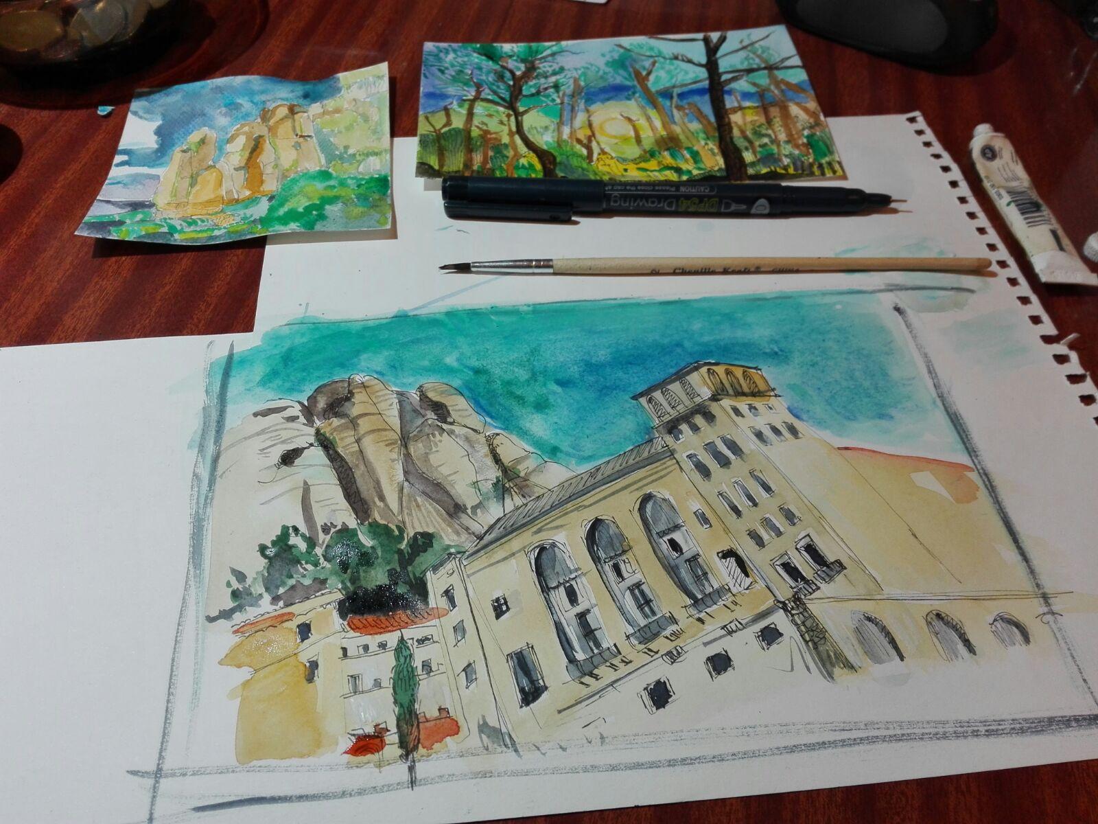 Exposición de acuarelas «Ilustraciones de Montserrat» + Música en vivo