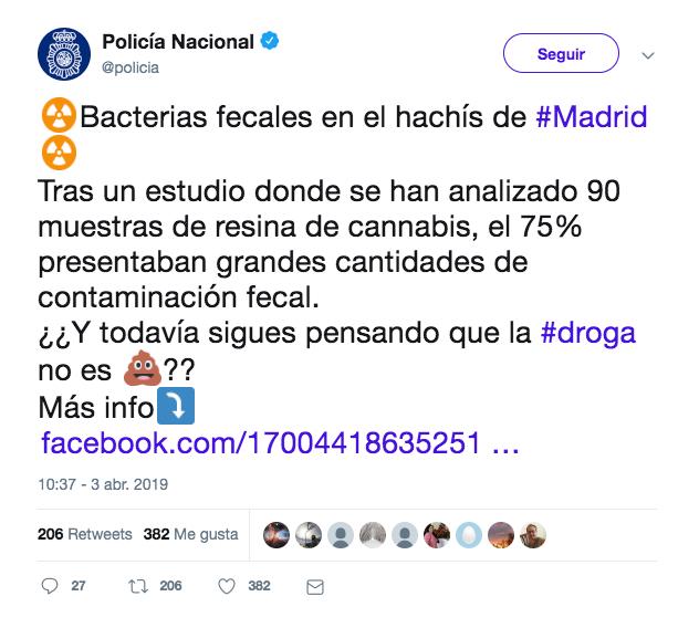 Sobre la necesidad de exactitud en la literatura científica y en la prensa: hachís de mercado negro, Madrid y E.Coli