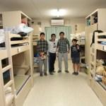 (2014年01月)中学生は1・2・3年生8名の相部屋