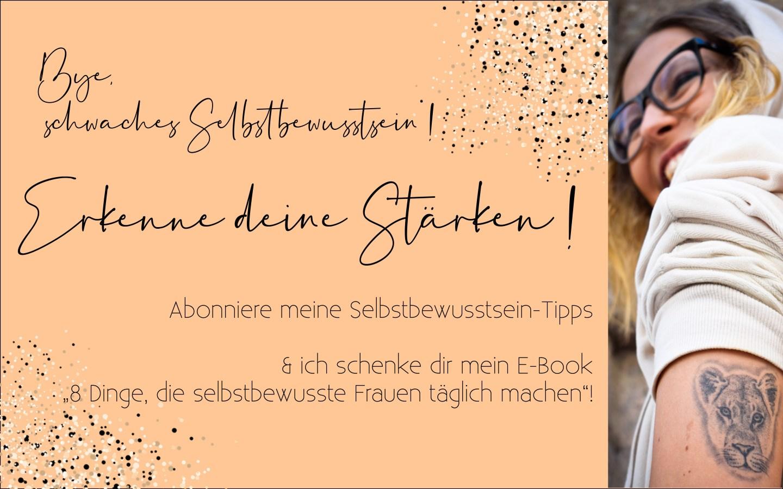 Selbstbewusstsein Newsletter von Sara Erb namens LEONA LETTER für starkes Selbstbewusstsein. Die Tirolerin bloggt über Selbstliebe und Selbstachtung.