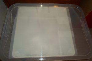 Mesa de luz - preparación tapa