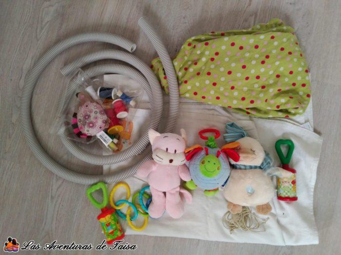 Gimnasio para Bebés DIY - Materiales