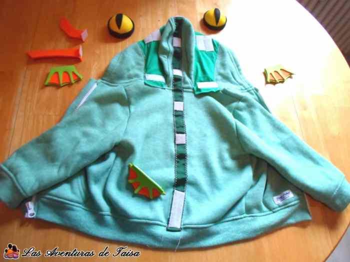 Disfraz de Baby Murloc - WoW - Despiece completo - posición velcros