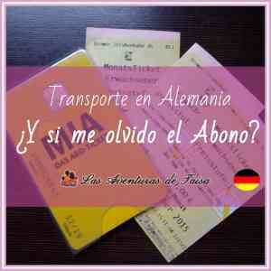 Transporte en Alemania - Qué hacer si me olvido el Abono en Casa y pasa el revisor