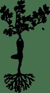 Mi morena una mujer con forma de árbol