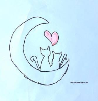 mi morena miedo no hace al hombre luna y gatos
