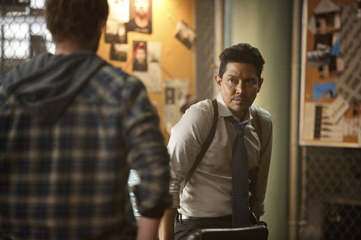 "Frequency -- ""Pilot"" -- Image Number: FRQ101d_0265.jpg -- Pictured (L-R): Riley Smith as Frank and Anthony Ruivivar as Stan -- Photo: Bettina Strauss/The CW -- © 2016 The CW Network, LLC. All rights reserved."