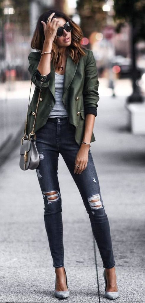 5 Outfits sencillos Jeans and Blazer