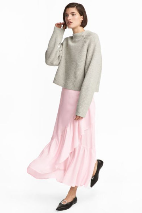 Falda color rosa pastel de H&M_LaSelectiva