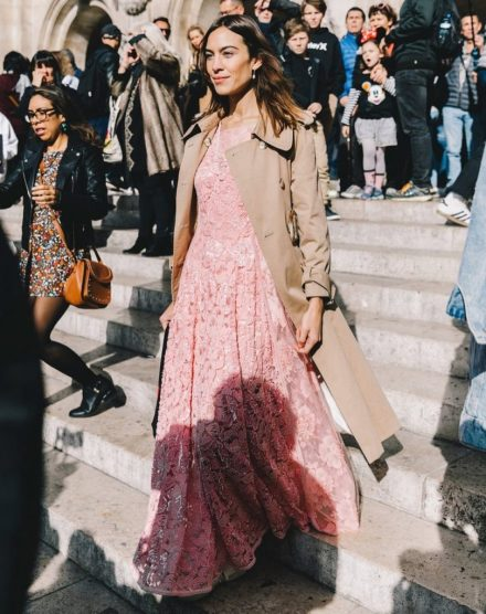 alexa chung style trench and maxi dress