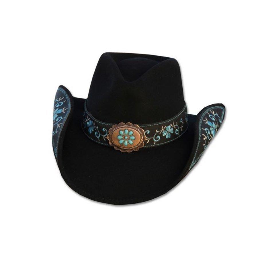 Cappello western da donna Sally Stars  Stripes  Cappelli western in feltro  La Selleria Online