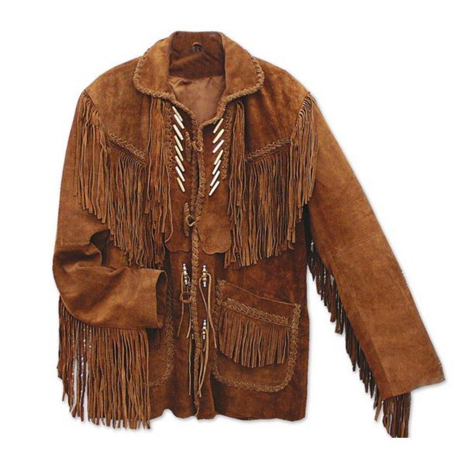 Giacca in pelle con frange Codi Stars  Stripes  Abbigliamento Western  La Selleria Online