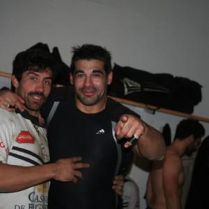 Francisco De la Fuente et Anibal Bonan , les latinos à la fête à Bagnères.