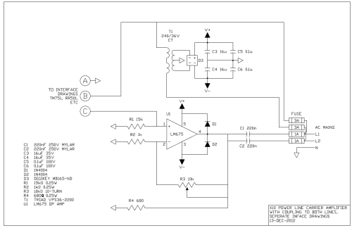 small resolution of power line carrier amplifier