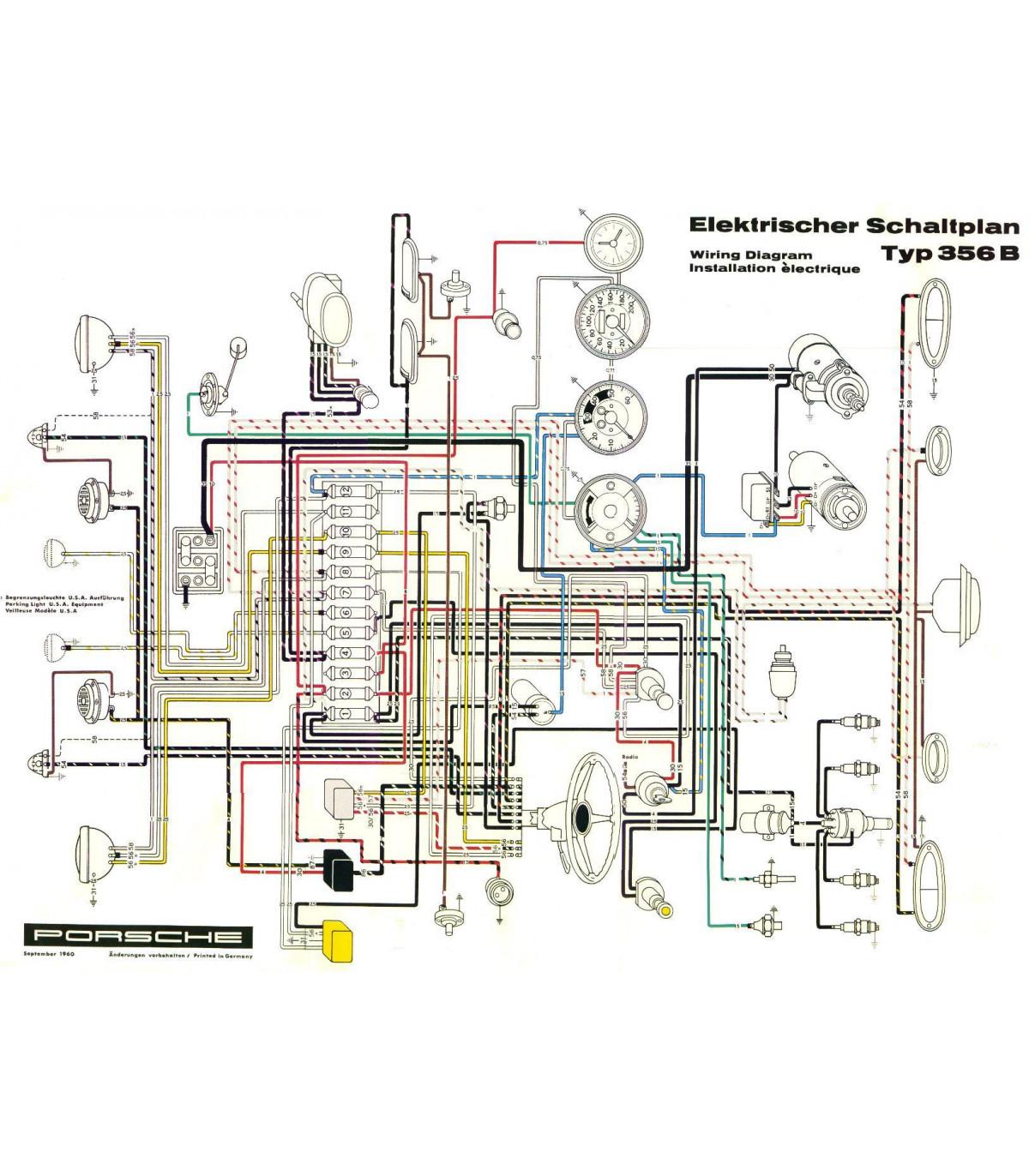hight resolution of kit clairage led 6v complet pour porsche 356
