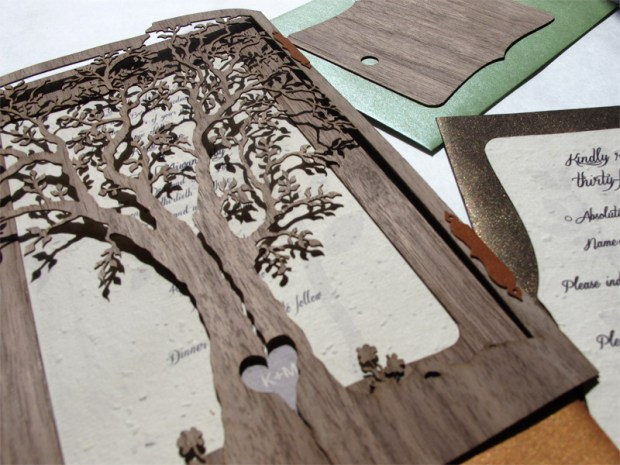Laser Cut Wedding Invites: Laser Cut Wedding Invitations And Sleeves