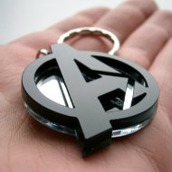 avangers black keychain