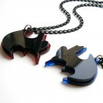 best friends batman necklaces
